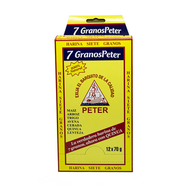 7 Granos Peter 100% Natural con Quinua 12 70g