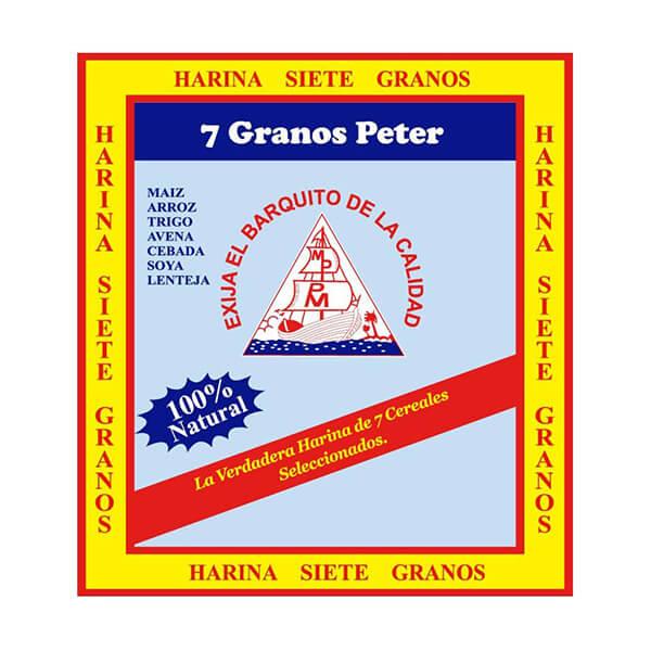 Harina 7 Granos Peter 100% Natural 12 x 70g